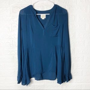 Meave Blue Tunic Blouse Size 8